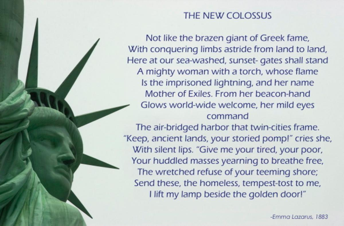 analysis of emma lazarus the new