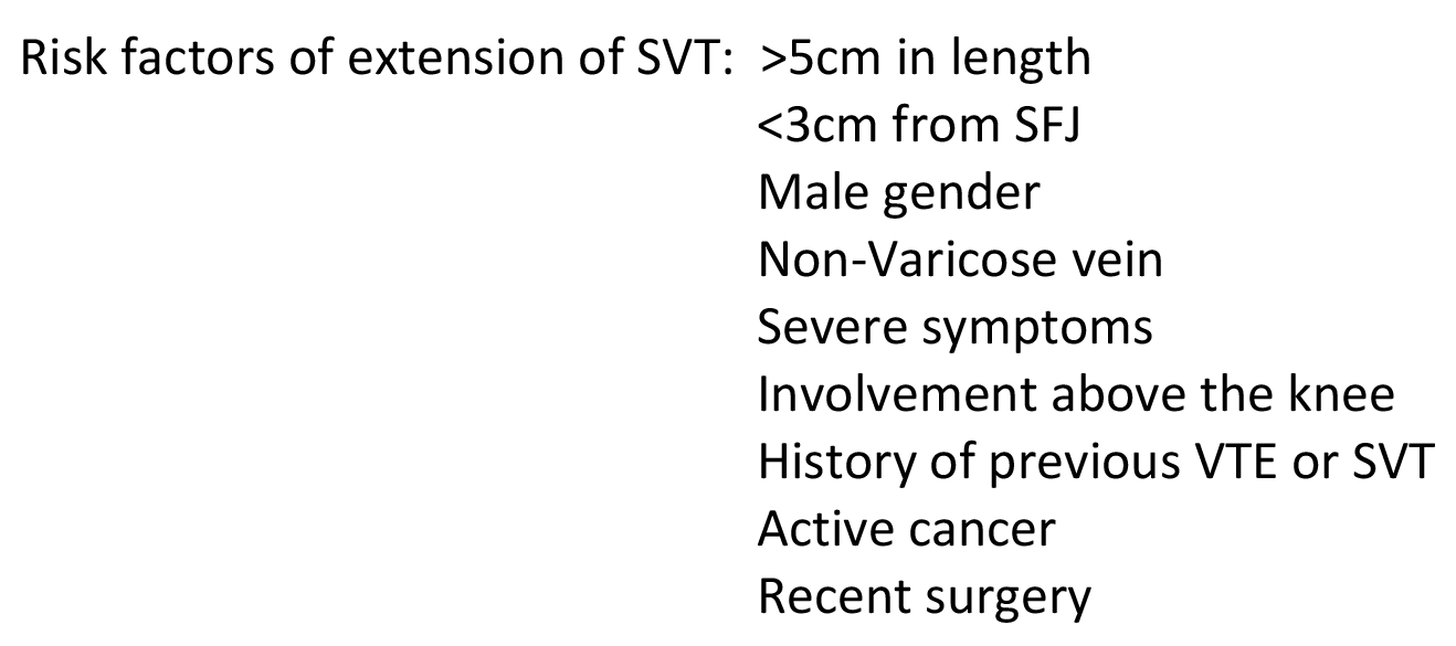 Risk Factors for SVT Propagation