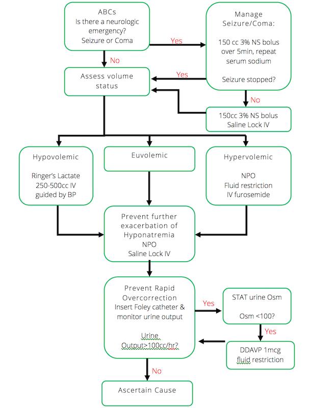 Hyponatremia Algorithm (EM Cases)